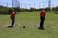 Sergio Garcia (ESP), John Rahm (ESP) on the range during the 2nd round at the WGC Dell Technologies Matchplay championship, Austin Country Club, Austin, Texas, USA. 23/03/2017.<br /> Picture: Golffile | Fran Caffrey<br /> <br /> <br /> All photo usage must carry mandatory copyright credit (&copy; Golffile | Fran Caffrey)