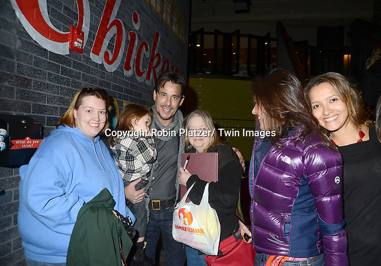 """Ricky Paull Goldin and his fans attend the Ricky Paull Goldin premiere party and fundraiser for his new HGTV show """"Spontaneous Construction"""" which will air on February 15, 2013. The party was on February 10, 2013 at Guy's American Kitchen in New York City."""