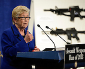 United States Representative Carolyn McCarthy (Democrat of New York) speaks at a press conference to announce the introduction of legislation to ban assault weapons on Capitol Hill in Washington, D.C. on Thursday, January 24, 2013..Credit: Ron Sachs / CNP.(RESTRICTION: NO New York or New Jersey Newspapers or newspapers within a 75 mile radius of New York City)