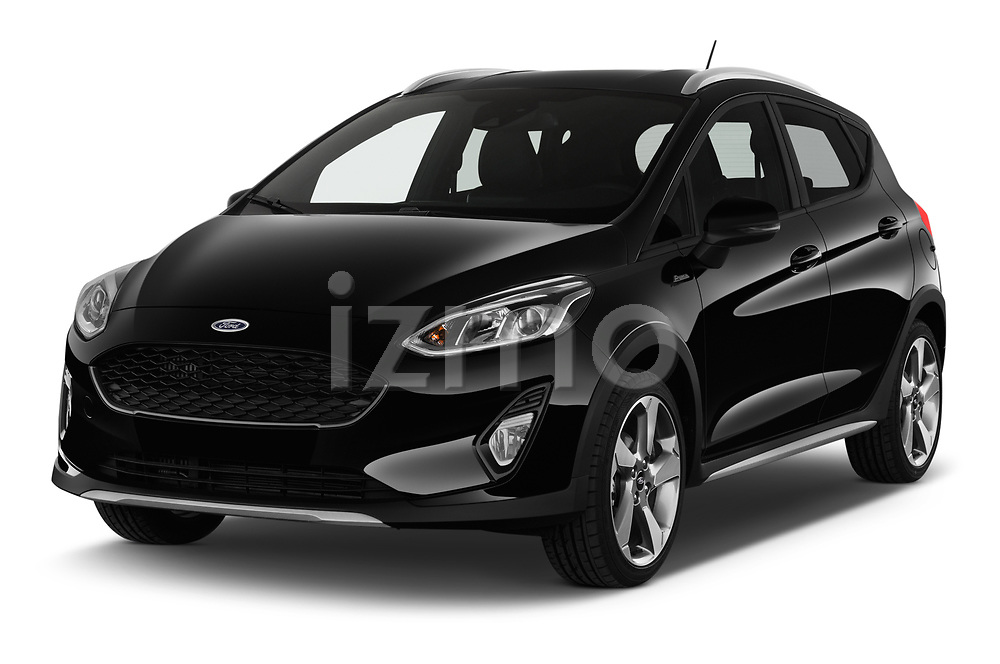 2019 Ford Fiesta  Active-3 5 Door Hatchback angular front stock photos of front three quarter view