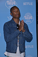 10 August  2017 - Los Angeles, California - Pharrell Williams.   Premiere of Netflix's &quot;True and The Rainbow&quot; held at Pacific Theaters at The Grove in Los Angeles. <br /> CAP/ADM/BT<br /> &copy;BT/ADM/Capital Pictures