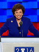 United States Representative Nita Lowey (Democrat of New York) makes remarks at the 2016 Democratic National Convention at the Wells Fargo Center in Philadelphia, Pennsylvania on Monday, July 25, 2016.<br /> Credit: Ron Sachs / CNP<br /> (RESTRICTION: NO New York or New Jersey Newspapers or newspapers within a 75 mile radius of New York City)