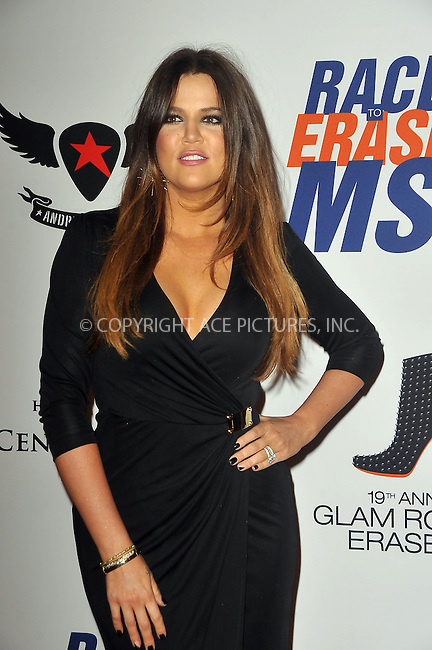 WWW.ACEPIXS.COM . . . . .  ....May 18 2012, LA....TV Personality Khole Kardashian arriving at the 19th Annual Race To Erase MS, 'Glam Rock To Erase MS' event at the Hyatt Regency Century Plaza on May 18, 2012 in Century City, California. ....Please byline: PETER WEST - ACE PICTURES.... *** ***..Ace Pictures, Inc:  ..Philip Vaughan (212) 243-8787 or (646) 769 0430..e-mail: info@acepixs.com..web: http://www.acepixs.com