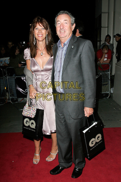 NICK MASON & GUEST.Leaving the GQ Men of the Year Awards at the Royal Opera House, Covent Garden, London, England..September 2nd 2008.departures full length purple pink dress grey gray suit .CAP/AH.©Adam Houghton/Capital Pictures.