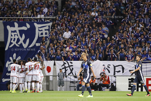 United Arab Emirates team group (UAE), SEPTEMBER 1, 2016 - Football / Soccer :<br /> FIFA World Cup Russia 2018 Asian Qualifier<br /> Final Round Group B<br /> between Japan 1-2 United Arab Emirates<br /> at Saitama Stadium 2002, Saitama, Japan.<br /> (Photo by Yusuke Nakanishi/AFLO SPORT)