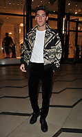Isaac Carew at the LFW (Men's) a/w 2019 GQ Dinner, Brasserie of Light, Selfridges, Duke Street, London, England, UK, on Monday 07 January 2019.<br /> CAP/CAN<br /> &copy;CAN/Capital Pictures