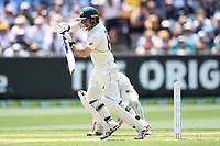27th December 2019; Melbourne Cricket Ground, Melbourne, Victoria, Australia; International Test Cricket, Australia versus New Zealand, Test 2, Day 2; Travis Head of Australia hits the ball - Editorial Use