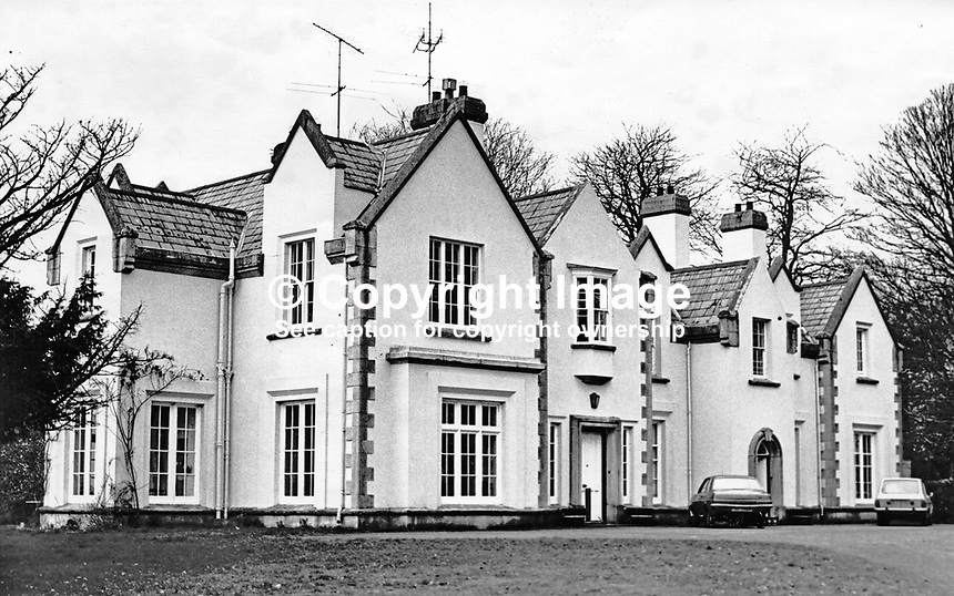 The home of Lord Faulkner of Downpatrick, aka Brian Faulkner, Ulster Unionist MP and sometime Prime Minister of N Ireland. He was also First Minister of the short-lived power sharing N Ireland Assembly. He was the sixth and last Prime Minister of N Ireland. He lived near Seaford, Co Down. 197703037890<br />