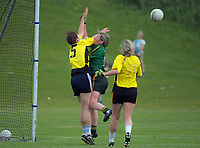 Action from the Irish Fest women's Gaelic Football festival match between Wellington and Hutt Valley at Ian Galloway Park in Wellington, New Zealand on Saturday, 17 November 2018. Photo: Dave Lintott / lintottphoto.co.nz