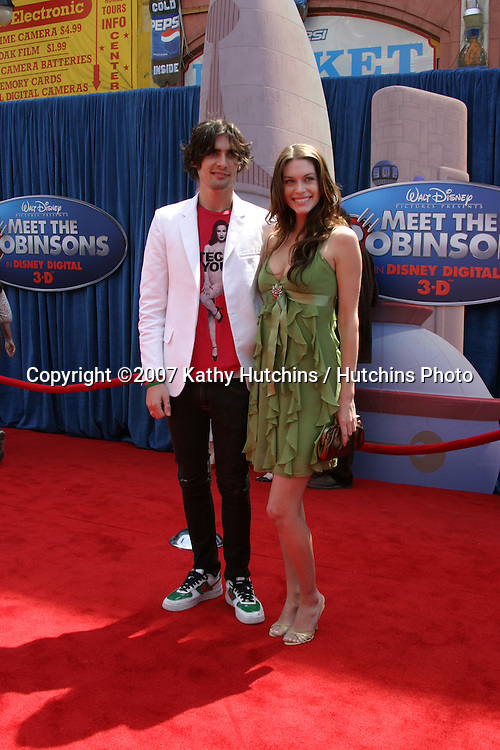 """Tyson Ritter (Of All American Rejects) & date supermodel Kim Smith.""""Meet the Robinson's"""" World Premiere.El Capitan Theater.Los Angeles, CA.March 25, 2007.©2007 Kathy Hutchins / Hutchins Photo."""