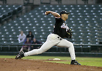 May 26, 2004:  Jose Parra of the Norfolk Tides, Triple-A International League affiliate of the New York Mets, during a game at Frontier Field in Rochester, NY.  Photo by:  Mike Janes/Four Seam Images
