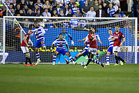 Fulham's Ryan Sessegnon has a shot from long range      <br /> <br /> <br /> Photographer Craig Mercer/CameraSport<br /> <br /> The EFL Sky Bet Championship Play-Off Semi Final Second Leg - Reading v Fulham - Tuesday May 16th 2017 - Madejski Stadium - Reading <br /> <br /> World Copyright &copy; 2017 CameraSport. All rights reserved. 43 Linden Ave. Countesthorpe. Leicester. England. LE8 5PG - Tel: +44 (0) 116 277 4147 - admin@camerasport.com - www.camerasport.com