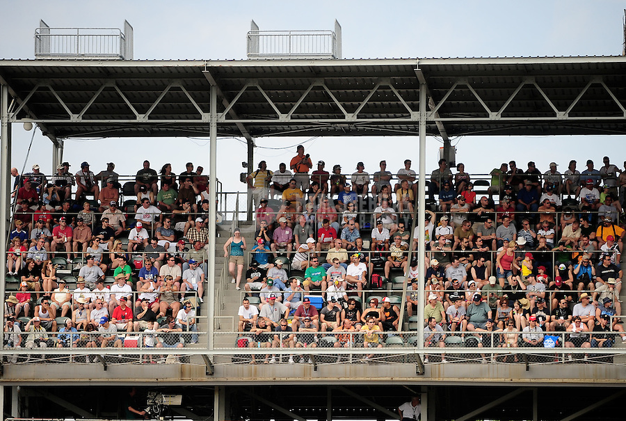 May 28, 2010; Indianapolis, IN, USA; IndyCar Series fans in the crowd during carb day prior to the Indianapolis 500 at the Indianapolis Motor Speedway. Mandatory Credit: Mark J. Rebilas-