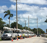 2017 FPL Hurricane Irma restoration in West Palm Beach, Fla. on Sept. 11, 2017