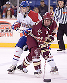 Kelly Sullivan, Benn Ferreiro - The Boston College Eagles defeated the University of Massachusetts-Lowell River Hawks 4-3 in overtime on Saturday, January 28, 2006, at the Paul E. Tsongas Arena in Lowell, Massachusetts.