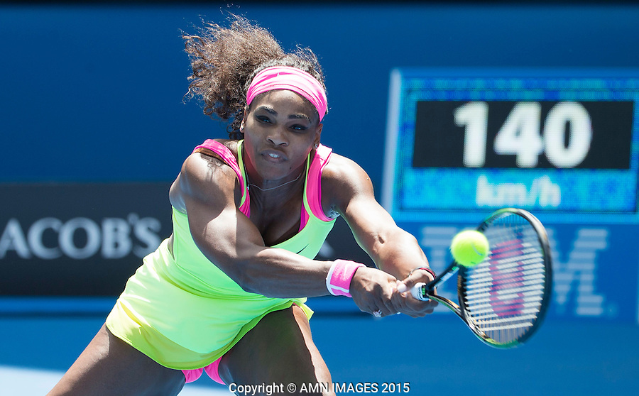 SERENA WILLIAMS (USA)<br /> <br />  - Australian Open 2015 - Grand Slam -  Melbourne Park - Melbourne - Victoria - Australia  - 28 January 2015. <br /> &copy; AMN IMAGES