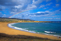 Kepuhi beach with rainbow, Molokai