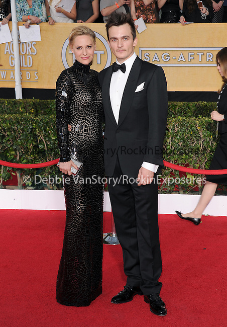 Rupert Friend, Aimee Mullins attends The 20th SAG Awards held at The Shrine Auditorium in Los Angeles, California on January 18,2014                                                                               © 2014 Hollywood Press Agency