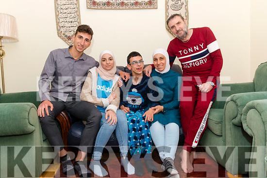 l-r Samir Ade, Nataly Aede, Mhdnour Aede, Wafaa Algafari and Samir Aede.