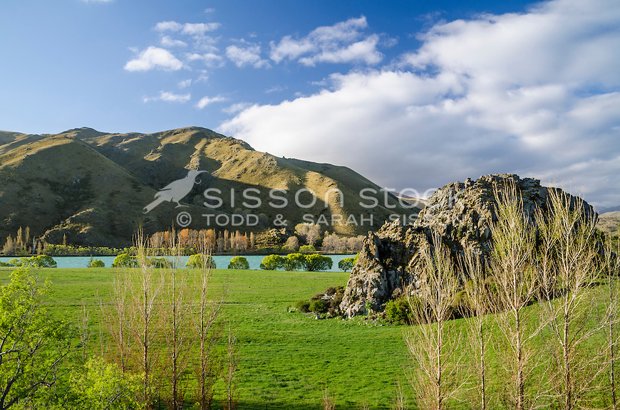 Waitaki Valley, North Otago, New Zealand - stock photo, canvas, fine art prints