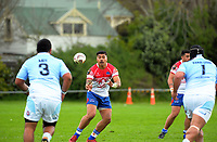 James So'oialo receives a pass during the Heartland championship rugby match between Horowhenua Kapiti and East Coast at Otaki Domain in Otaki, New Zealand on Saturday, 23 September 2017. Photo: Dave Lintott / lintottphoto.co.nz