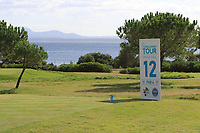 The 12th tee during the Pro-Am of the Challenge Tour Grand Final 2019 at Club de Golf Alcanada, Port d'Alcúdia, Mallorca, Spain on Wednesday 6th November 2019.<br /> Picture:  Thos Caffrey / Golffile<br /> <br /> All photo usage must carry mandatory copyright credit (© Golffile | Thos Caffrey)