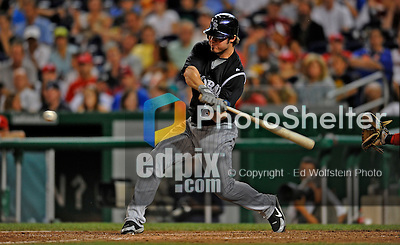 16 August 2008: Colorado Rockies' third baseman Ian Stewart in action against the Washington Nationals at Nationals Park in Washington, DC.  The Rockies defeated the Nationals 13-6, handing the last place Nationals their 9th consecutive loss. ..Mandatory Photo Credit: Ed Wolfstein Photo