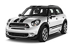 2016 MINI Countryman Cooper-S 5 Door Hatchback Angular Front stock photos of front three quarter view