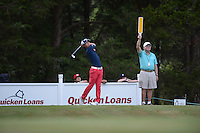 Gainesville, VA - August 2, 2015:  Ryo Ishikawa hits a nice shot off tee on the 16th hole at the Robert Trent Jones Golf Club in Gainesville, VA. August 2, 2015.  (Photo by Philip Peters/Media Images International)