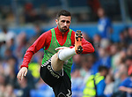 Daniel Lafferty of Sheffield Utd warms up during the championship match at St Andrews Stadium, Birmingham. Picture date 21st April 2018. Picture credit should read: Simon Bellis/Sportimage