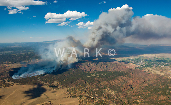 Wildfire at Royal Gorge Bridge and Park.  June 2013