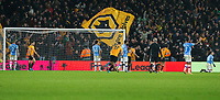 27th December 2019; Molineux Stadium, Wolverhampton, West Midlands, England; English Premier League, Wolverhampton Wanderers versus Manchester City; Raul Jimenez of Wolverhampton Wanderers scores in the 82nd minute to equalise 2-2 - Strictly Editorial Use Only. No use with unauthorized audio, video, data, fixture lists, club/league logos or 'live' services. Online in-match use limited to 120 images, no video emulation. No use in betting, games or single club/league/player publications - Strictly Editorial Use Only. No use with unauthorized audio, video, data, fixture lists, club/league logos or 'live' services. Online in-match use limited to 120 images, no video emulation. No use in betting, games or single club/league/player publications