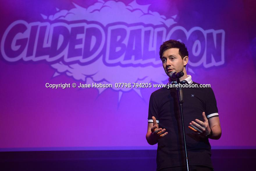 Edinburgh, UK. 04.08.2016. The Gilded Balloon launches its Edinburgh Festival Fringe 2016 programme. Picture shows: Nath Valvo. Photograph © Jane Hobson.