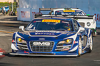 James Sofronas, #14 Audi R8 LMS Ultra, Pirelli World challenge race, Long Beach Grand Prix, Long Beach, CA, April 2015.  (Photo by Brian Cleary/ www.bcpix.com )