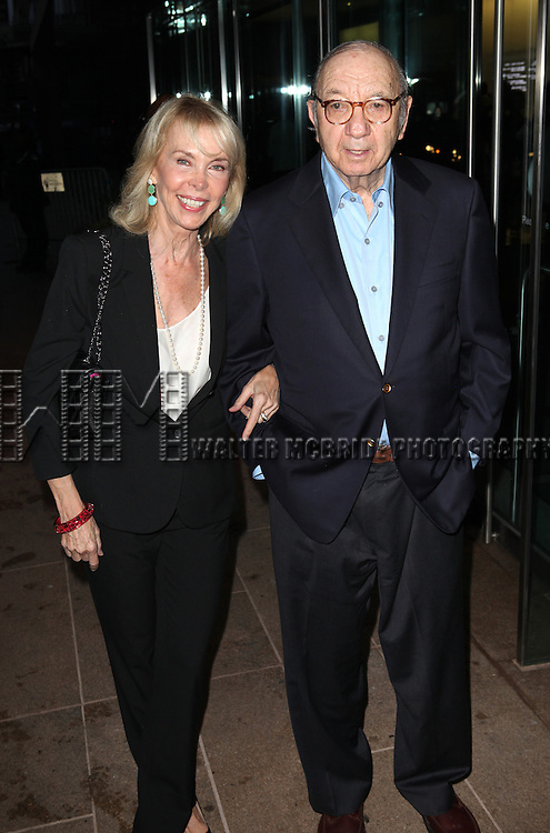 Elaine Joyce & Neil Simon attending the Memorial To Honor Marvin Hamlisch at the Peter Jay Sharp Theater in New York City on 9/18/2012.