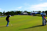 Arjun Atwal (IND) in action during the third round of the Afrasia Bank Mauritius Open played at Heritage Golf Club, Domaine Bel Ombre, Mauritius. 02/12/2017.<br /> Picture: Golffile | Phil Inglis<br /> <br /> <br /> All photo usage must carry mandatory copyright credit (&copy; Golffile | Phil Inglis)