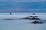 Just after sunset in the small town of Kaikoura on the east coast of the south island of New Zealand