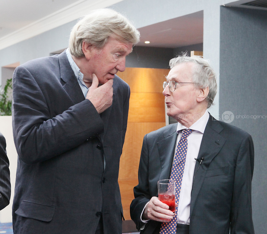 22/9/2010. Cathal O'Shannon - A Life in Television.  Veteran of Irish TV Cathal O'Shannon is pictured with Tom McGurk at the Conrad Hotel Dublin for the IFTA Tribute event Cathal O'Shannon- A life in Television. Picture James Horan/Collins Photos