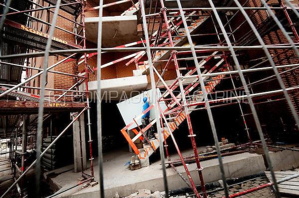 A construction site in Louvain-La-Neuve (Belgium, 20/08/2013)
