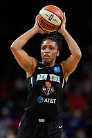Washington, DC - August 25, 2019: New York Liberty guard Tanisha Wright (30) during first half action of game between the New York Liberty and the Washington Mystics at the Entertainment and Sports Arena in Washington, DC. The Mystics defeated New York 101-72. (Photo by Phil Peters/Media Images International)