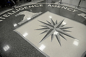 The seal of the Central Intelligence Agency (CIA) is seen on the floor during a visit of United States President Donald Trump the CIA headquarters January 21, 2017 in Langley, Virginia.<br /> Credit: Olivier Douliery / Pool via CNP