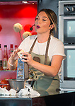 Candice Brown  Great British Bake Off Winner 2016 making sausage rolls at the oxford foodies festival