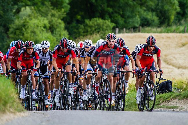 Team BMC leading the pack, Stage 3 Buchten - Buchten, Ster ZLM Toer, Buchten, The Netherlands, 20th June 2014, Photo by Thomas van Bracht / Peloton Photos