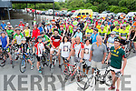 The family and friends at of the late Stephanie O'Sullivan at her memorial cycle in Milltown on Sunday