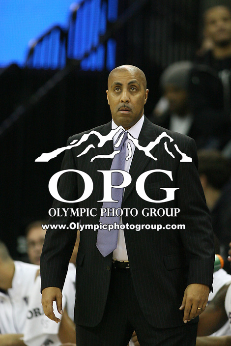 Jan 31, 2013:  Washington's Lorenzo Romar against Arizona.  Arizona defeated Washington 57-53 at Alaska Airlines Arena Seattle, Washington...