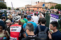 the Giro is & will stay the Giro...<br /> Michael Gogl (AUT/Trek-Segafredo) trying to get to the teambus after the stage, but is hindered by the crowd <br /> <br /> Stage 10: Ravenna to Modena (147km)<br /> 102nd Giro d'Italia 2019<br /> <br /> ©kramon