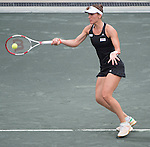 Andrea Petkovic defeats Jana Cepelova 7-5, 6-2 at the Family Circle Cup in Charleston, South Carolina on April 6, 2014.