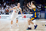 Real Madrid Klemen Prepelic and Herbalife Gran Canaria Nikola Radicevic during Turkish Airlines Euroleague match between Real Madrid and Herbalife Gran Canaria at WiZink Center in Madrid, 20 November 2018. (ALTERPHOTOS/Borja B.Hojas)