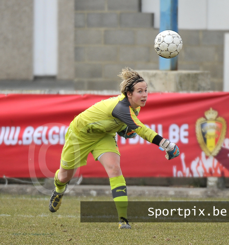 Switzerland U19 - Russia U19 : Switzerland goalkeeper .Nadine Böni (GK) (C).foto DAVID CATRY / Nikonpro.be