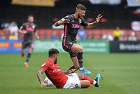 Leeds United's Mateusz Klich is tackled by Bristol City's Marlon Pack<br /> <br /> Photographer Ian Cook/CameraSport<br /> <br /> The EFL Sky Bet Championship - Bristol City v Leeds United - Sunday 4th August 2019 - Ashton Gate Stadium - Bristol<br /> <br /> World Copyright © 2019 CameraSport. All rights reserved. 43 Linden Ave. Countesthorpe. Leicester. England. LE8 5PG - Tel: +44 (0) 116 277 4147 - admin@camerasport.com - www.camerasport.com